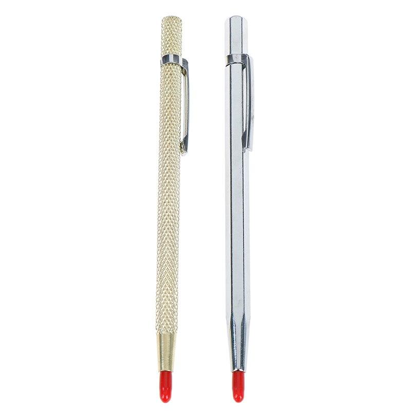 1Pcs Tungsten Steel Pointed Scriber Pocket Clip Scriber For Metal Glass Ceramics