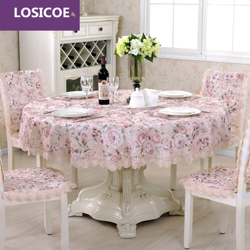 LOSICOEQuality cotton and linen table cloth chair covers cushion tables and chairs bundle chair cover lace cloth set tablecloths
