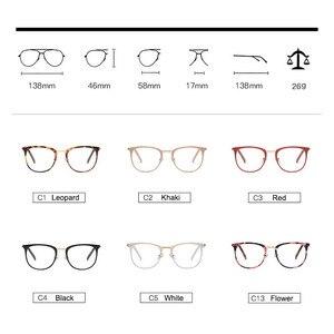 Image 4 - בציר משקפיים אופטיים נשים מסגרת סגלגל מתכת יוניסקס נשי משקפיים משקפיים oculos דה משקפי מרשם משקפיים
