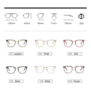 Image 4 - Vintage optik gözlük kadın çerçeve Oval Metal Unisex gözlük kadın gözlük óculos de gözlük reçete gözlük