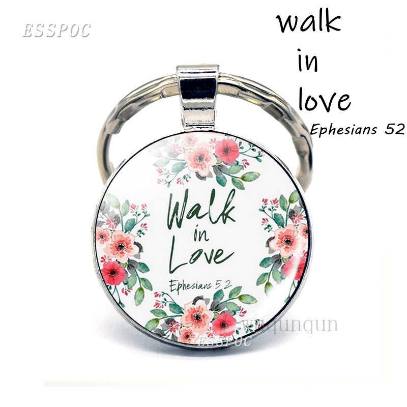 Dios es mi refugio y Strengh biblia cita joyería llavero colgante, regalo de llavero con colgante de Biblia