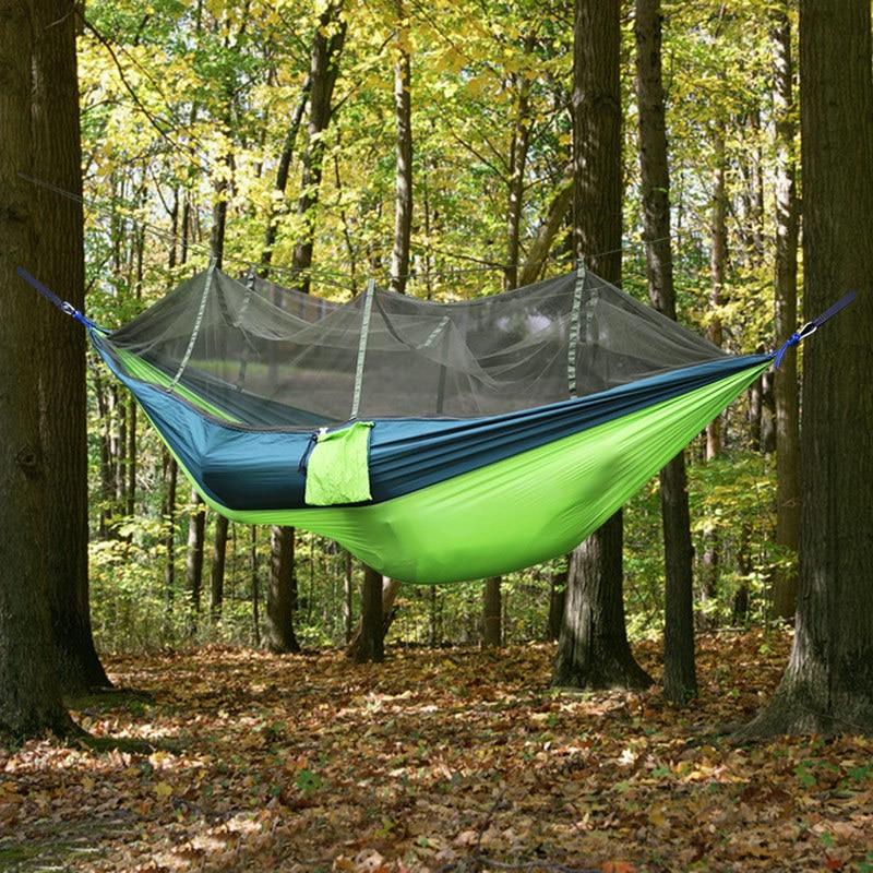 Amaca All'aperto Tenda Da Campeggio Zanzariera Amaca Paracadute Panno 1.4x2.6 M Amaca Hamac Hamak Viaggiare Altalena Sleeping Hangmat Da Processo Scientifico