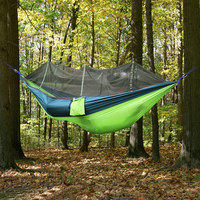 Ultralight Outdoor Camping Hunting Mosquito Net Parachute Hammock 2 Person Garden Hanging Bed Leisure With Mosquito
