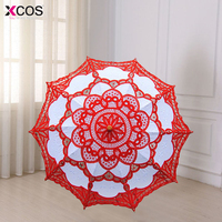 4 Colors Sun Lace Umbrella Parasol Embroidery Bride Umbrella White Wedding Umbrella Ombrelle Dentelle Parapluie Mariage