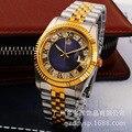 2016 HONG KONG REGINALD Marca de Luxo Relógio de Pulso de Ouro Relógio De Quartzo Azul Vestido de Festa 50 m Resistente À Água Amantes Homem Mulher relógios de pulso