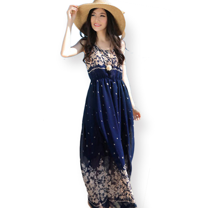 Collection Summer Long Dress Pictures - Reikian