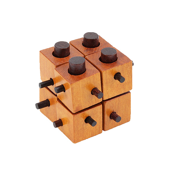 Chanycore Baby Learning Educational Wooden Toys 3D Puzzle Kong Ming Luban Lock Cube Brain Teaser bfks Kids Gifts 4240