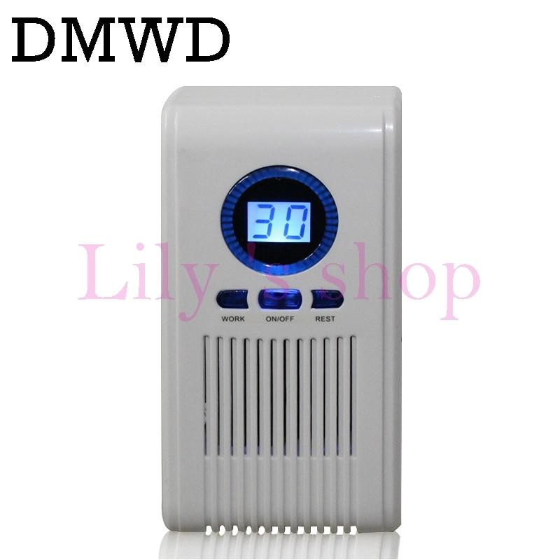 цены DMWD mini air purifier Ozonizer Deodorizer Ozone Ionizer Generator Sterilization Toilet Disinfection LED Timing Sterilizer Euro