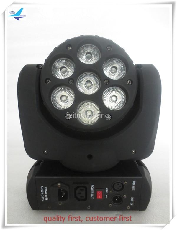 E-(4/lot)MINI moving head beam 7x10w rgbw 4 in1 dmx moving head disco light