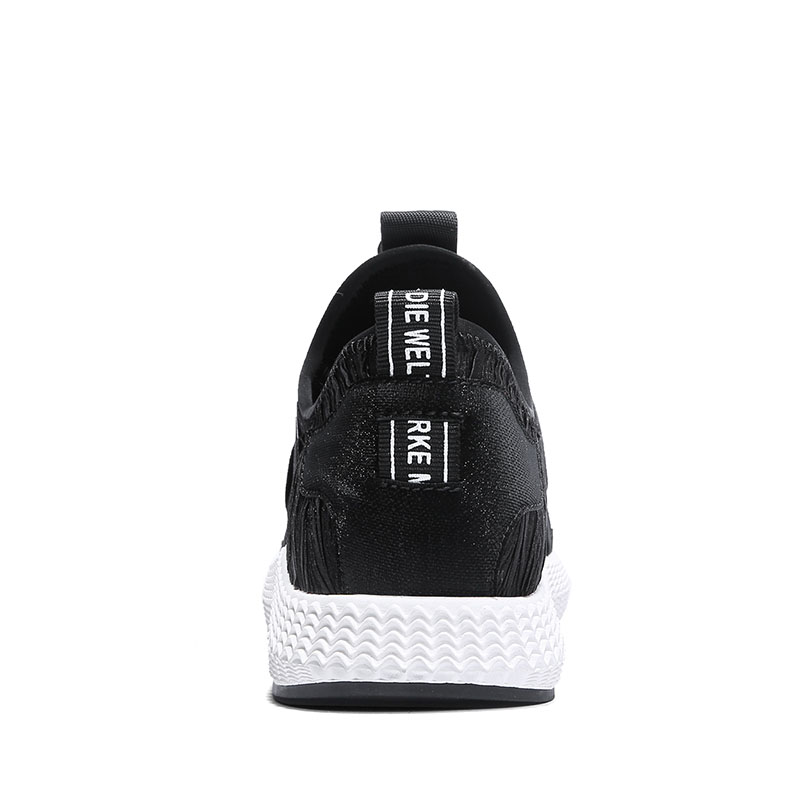 mens Breathable summer jogging shoes running shoes man running shoes for sport black white running workout shoes