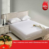 2014 Best Seller Russian Size Polyester Knit Waterproof Mattress Protector Mattress For Cover Bed Wetting 150