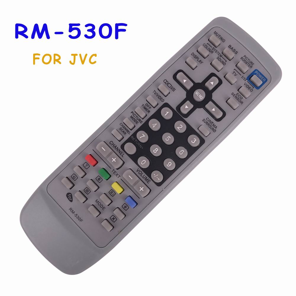 Free Shipping New Universal RM-530F Remote Control For JVC RM-C1100 RM-C227 RM-C462 RM-C331 Fit For Most JVC TV Fernbedienung chunghop rm l7 multifunctional learning remote control silver