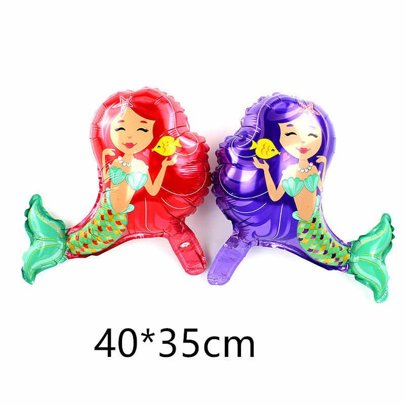 1 шт. шарик для дня рождения с изображением русалки воздушные шары маленькой