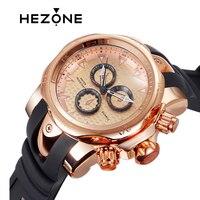 HEZONE Men Đồng Hồ Timepiece Đeo Tay Thạch Anh 30 M Không Thấm Nước Hẹn Giờ Thừa Cân Luxury Xem Quà Tặng Rose vàng Hợp Kim Cổ Tay Watch