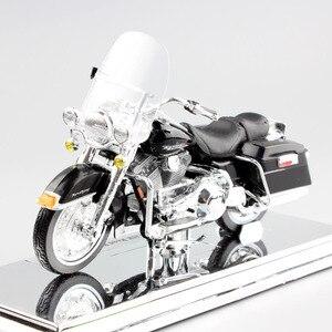 Image 5 - 1/18 échelle enfants maisto mini FLHR route roi moulé sous pression en métal modèle moto Cruiser véhicules de tourisme vélo jouets pour enfants