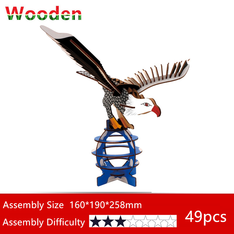 Model Building Toys & Hobbies Smart Figures Animals Construction Assembly Kit Wooden 3d Model Building Kits Kids Diy Hobbies Eductionnal Toys Fish Eagle Camel