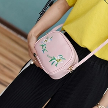 Embroidery PU Leather Women Messenger Bag