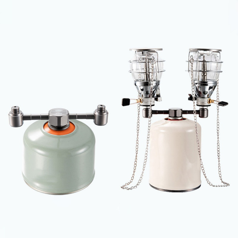 Outdoor Camping Stove Adapter One to Two Output Air Tank /&2 Conversion Head