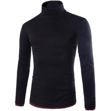 Новые Поступления 2017 Горячий продавать поддельные два мужская трикотажные водолазки пуловер свитер мода мужская рубашка