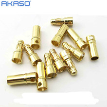 Best quality 20 pairs/Lot TB35 3.5mm Gold Bullet Banana Connector plug 3.5 mm Thick Gold Plated For ESC Battery RC plane