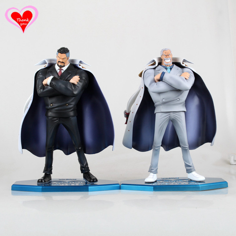 ФОТО Love Thank You One Piece OP  Monkey D. Garp White Black Ver. 23cm PVC Figure Toy Collection Hobby NEW