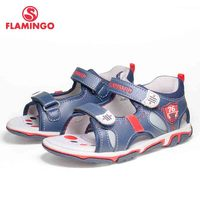 FLAMINGO Brand 2018 Mixed Color Summer Hook&Loop Red and Blue Casual Kids shoes Toddler Outdoor Sandals for boy 81S XDB 0756