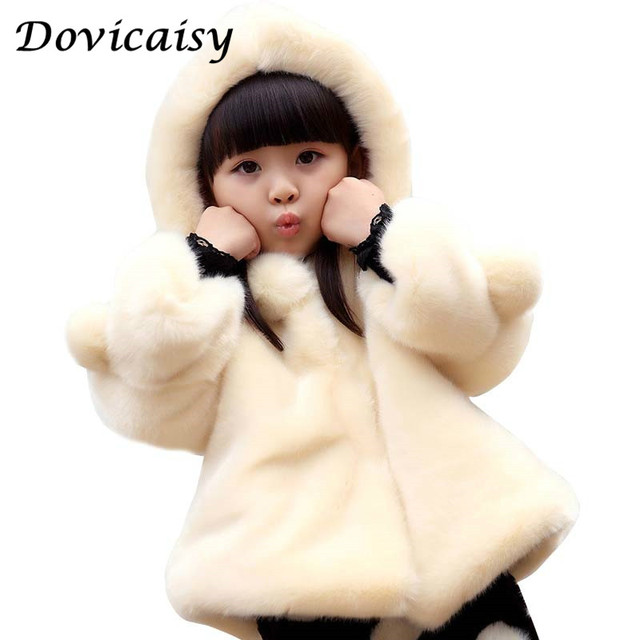 fda15a42ca5c winter Children Coat Baby Girls winter Coats long sleeve coat girl s warm  Baby jacket Winter Outerwear cartoon fleece
