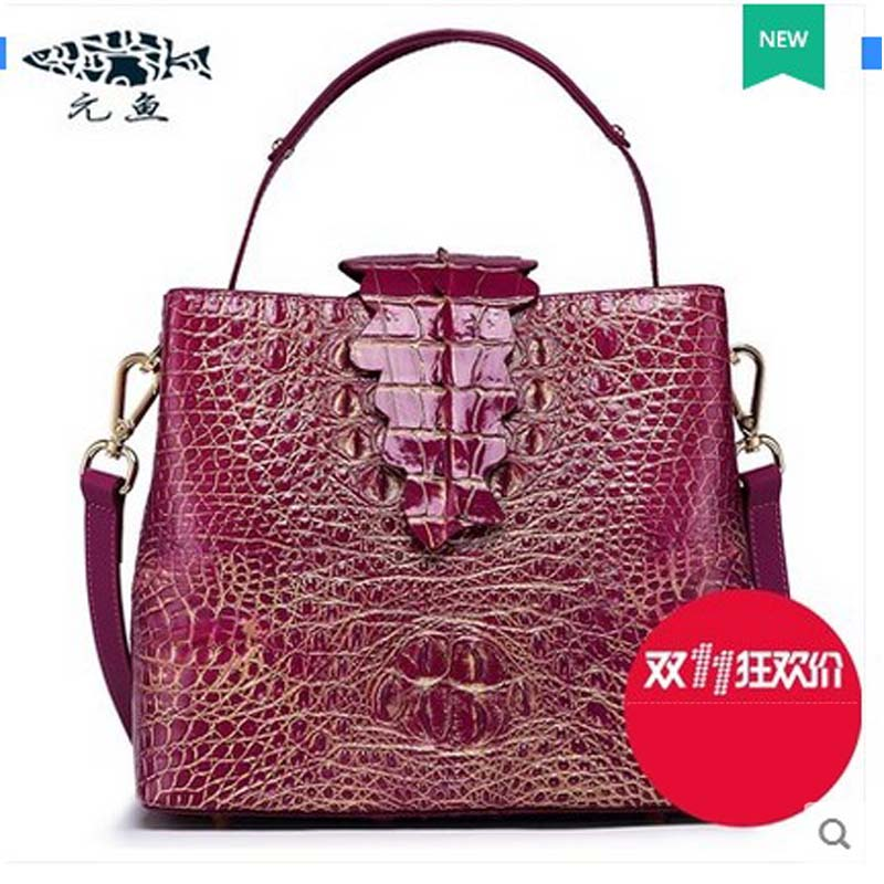 yuanyu 2017 new hot free shipping real crocodile handbag single shoulder bag big capacity crocodile leather bag lady handbag yuanyu 2017 new hot free shipping crocodile handbag leather handbag handbag lock high capacity crocodile leather women bag
