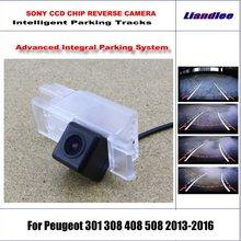 цены Intelligentized Reversing Camera For Peugeot 301 308 408 508 2013-2016 Rear View Back Up / 580 TV Lines Dynamic Guidance Tracks