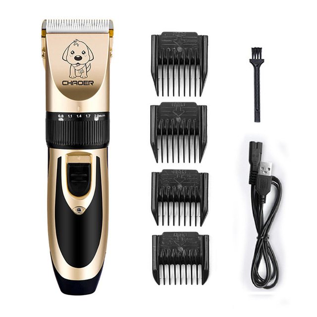 Pet Dog Grooming clipper hair Professional Electrical Trimmer Rechargeable Grooming Tool Low-noise Pet Haircut Shave Machine Set