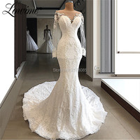 Boho Wedding Dress Gelinlik Bride Dress Vestido De Noiva 2019 Wedding Gowns Bridal Dresses Arabic Muslim Lace Dresses