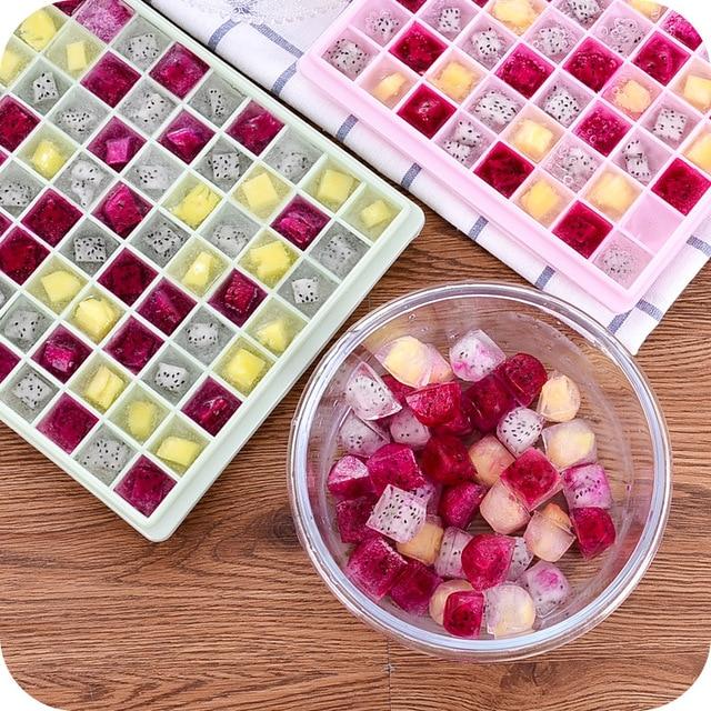 DIY силиконовые 96 сетки для льда Куб Mold мороженого для маленьких Еда контейнер для хранения Кухня инструменты BPA бесплатно