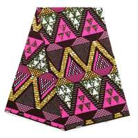 New Model Red And Gold African Wax Print Fabric Nigeria Ankara Material Best 100% Cotton African Wax Print