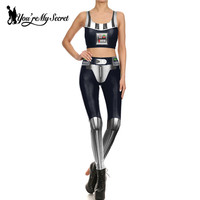 You Re My Secret Fashion Cosplay Star Wars Print Comic Robot Spandex Leggings Women Fitness