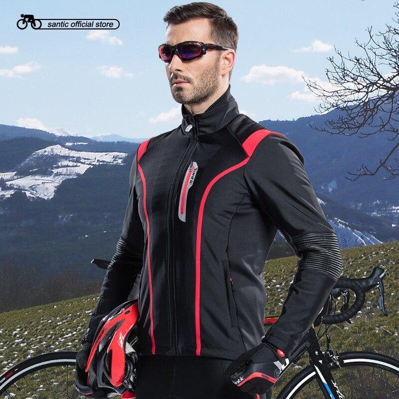 d3b03bf8d8bf5a Santic Uomini Ciclismo Giacca Bici Da Corsa Ciclismo Invernali In Pile  Giacche Antivento Ciclismo Abbigliamento Ciclismo Jersey M5C01062R in  Santic Uomini ...