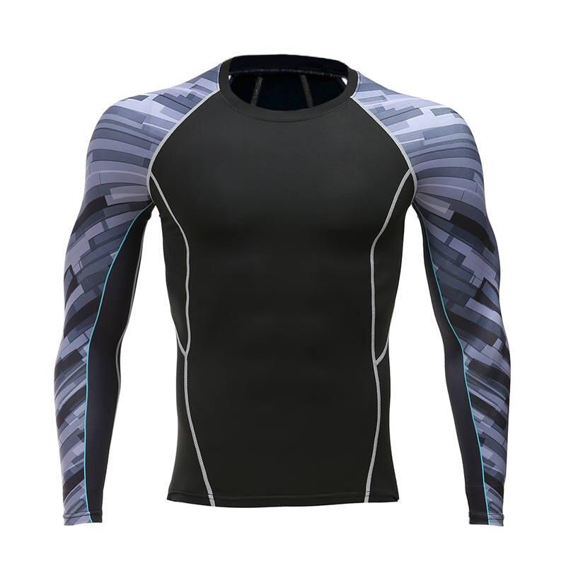 Mma compression shirt boys fitness men 39 s underlayer mock for Mock long sleeve t shirts