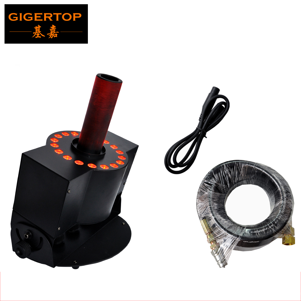 TIPTOP Large Size Stage Effect Co2 Jet machine/ 18*3W RGB 3in1Led Co2 Jet Machine /DMX512 Control 8-10 Meter Fog machine 90/240V