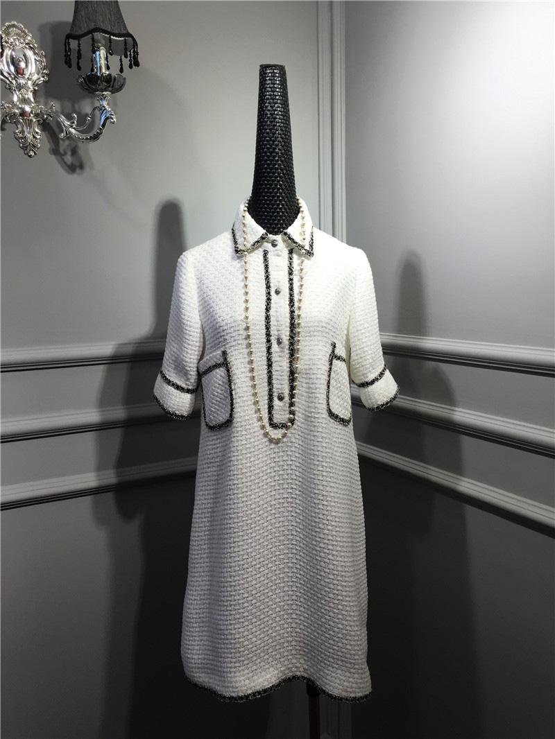 women elegant office dress,custom plus size xs-6xl,tweed winter dress,ladies vestidos de fiesta,tweed autumn White dress 2