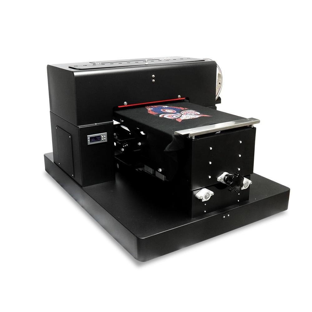 US $1777 14 19% OFF|A3 size flatbed printer textiles T shirt printer fabric  printing machine dtg printer black white color flatbed printer-in Printers