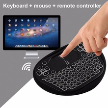 2.4GHz Mini Touchpad Wireless Keyboard Tricolor Backlight Version Air Mouse Remote Control Touchpad Handheld For Android PC