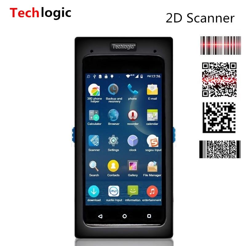Сканер штрих-кода Techlogic на базе Android, 2D сканер QR-кодов, Полноэкранный сенсорный мобильный терминал данных, беспроводной сканер с Wi-Fi, Bluetooth, PDA