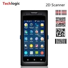 Techlogic Android сканер 2D QR сканер штрих-кода полный Экран Touch мобильного терминала данных Wi-Fi Bluetooth КПК Беспроводной сканер