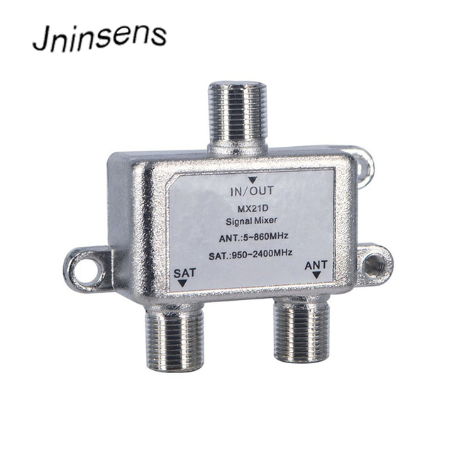 High quality 2 Way Cable Splitter Satellite Multiswich ANT SAT TV Signal Mixer Digital Satellite Combiners Diplexers VHF UHF