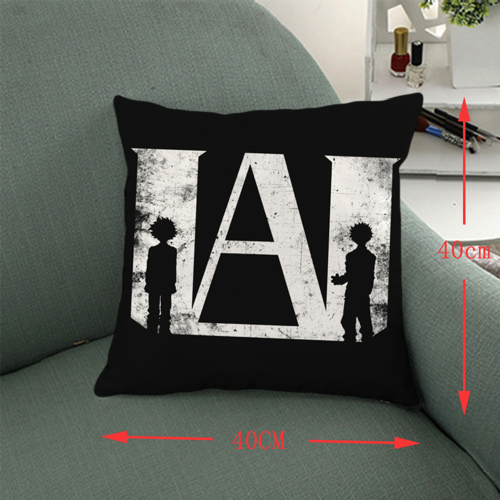 Giancomics 40*40cm Hot My Hero Academia Anime Pillow Knited Cloth Pillow Case Comfortable Household Furnishing Bolster Ornament