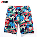LKBEST New summer men's beach shorts cotton camouflage military shorts brand boardshorts cotton men swimwear shorts N1472