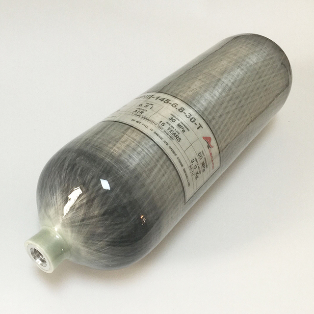 Fibra de carbono 6.8L refile o pistola de aire del cilindro para su PCP con buena calidad 15 años de garantía