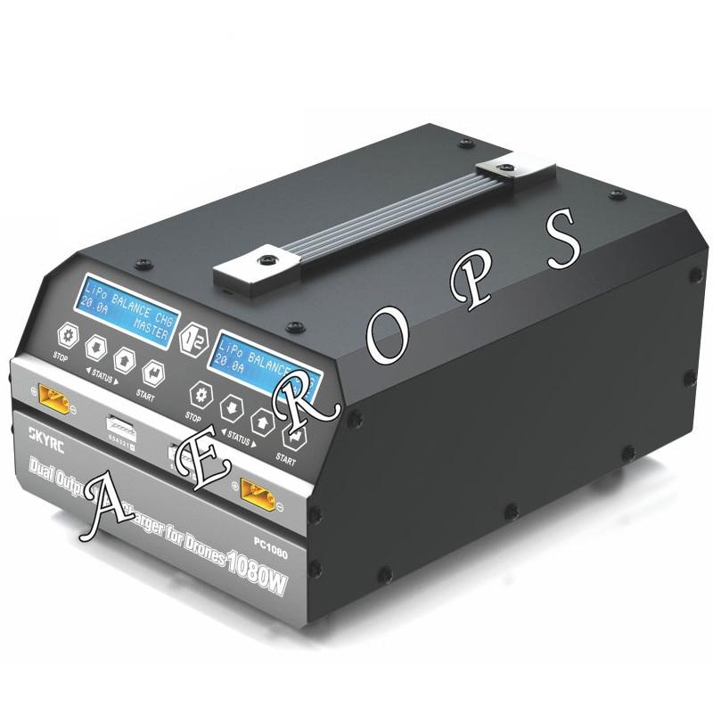 Chargeur de sortie double canal Aerops PC1080 chargeur de batterie Lithium li-po 1080 W 20A pour Drone de aéronef sans pilote (UAV) de Protection des plantes