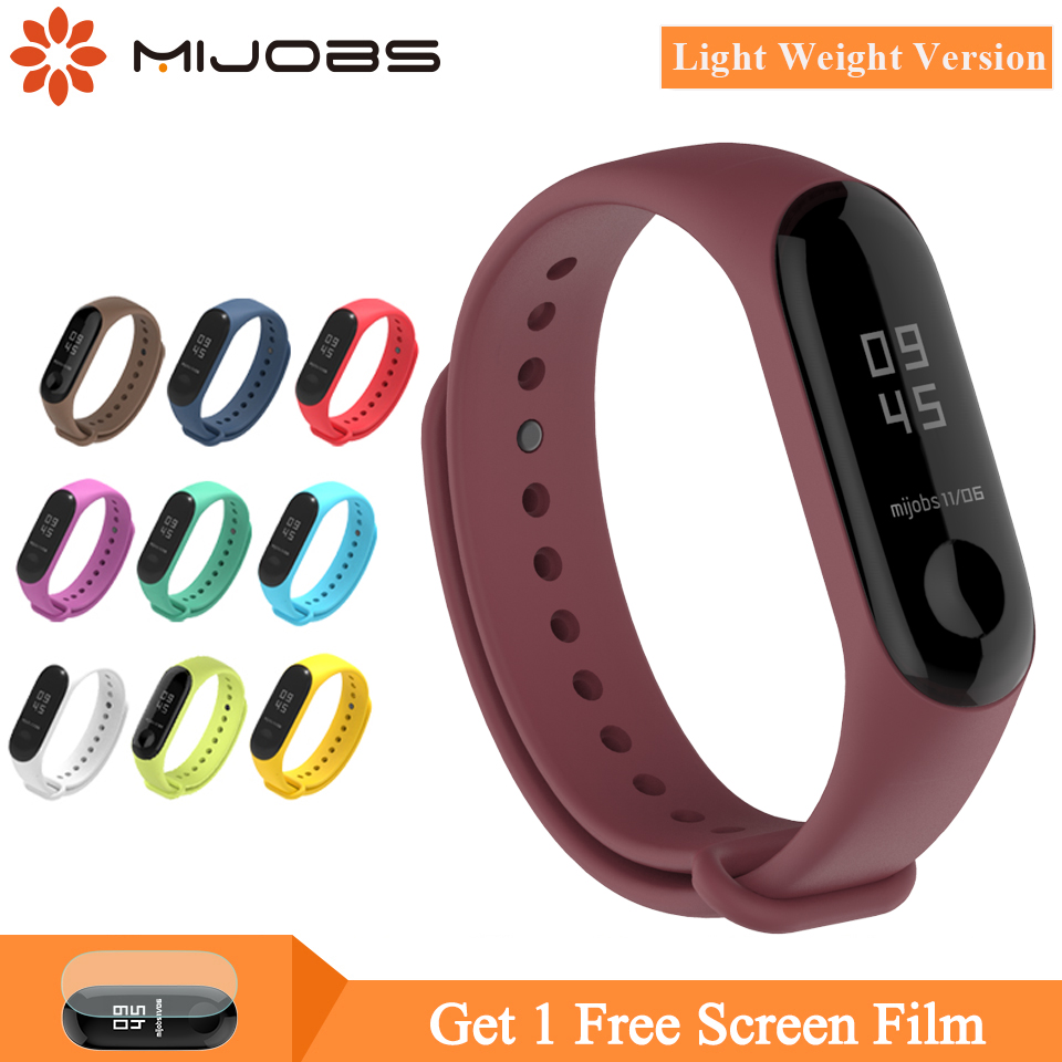 Mijobs Mi Band 4 Strap Light Weight For Xiaomi Mi Band 4/3 Strap Wristband Strap Smart Watch Bracelet Silicone Strap Miband 3