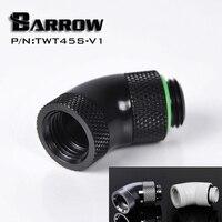 Barrow  adaptador rotativo de dos grados  doble rosca de 45 grados  plateado G1/4 pulgadas  adaptador giratorio de refrigeración por agua de 45 grados  TWT45S-V1