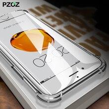PZOZ для iPhone 7 8 плюс Чехол для телефона роскошный противоударный бампер аксессуары Чехол Премиум силиконовый прозрачный для iPhone 7 s Чехол
